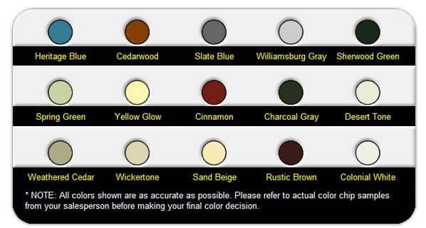 steel gutter colors